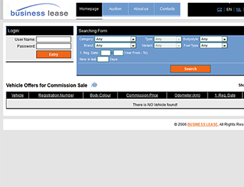 Business Lease - auction system